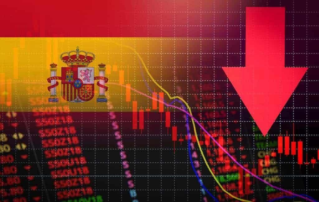 Economie Spanje krimpt in tweede kwartaal met 18,5%