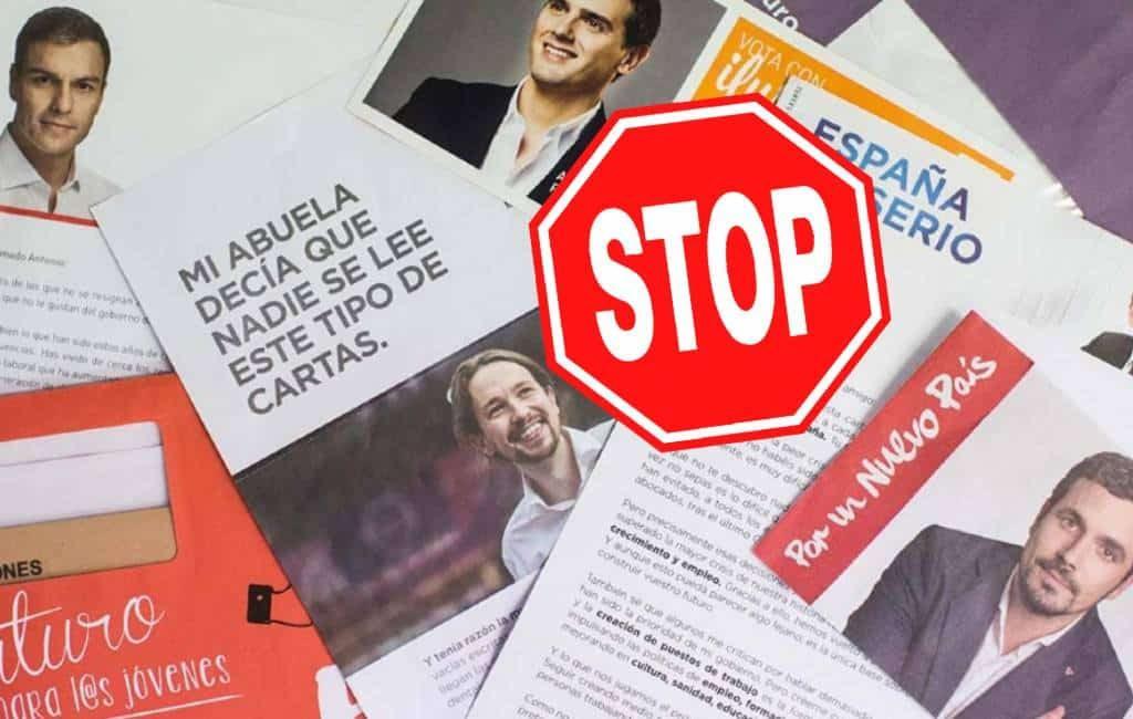Spanjaarden melden zich massaal om geen verkiezingspropaganda te ontvangen
