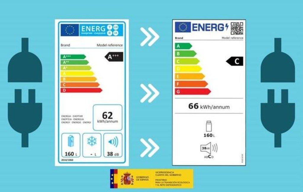 Spanje heeft ook sinds 1 maart de nieuwe energielabels voor elektronische producten