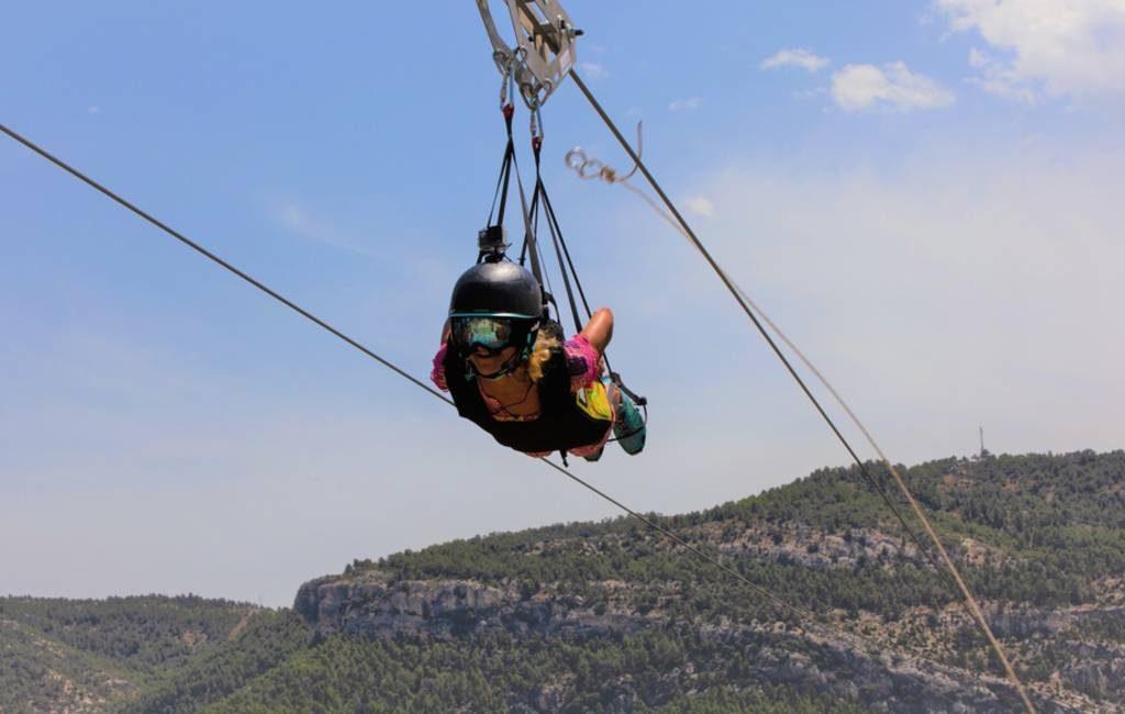 Langste tokkelbaan van Europa is te vinden in de provincie Teruel