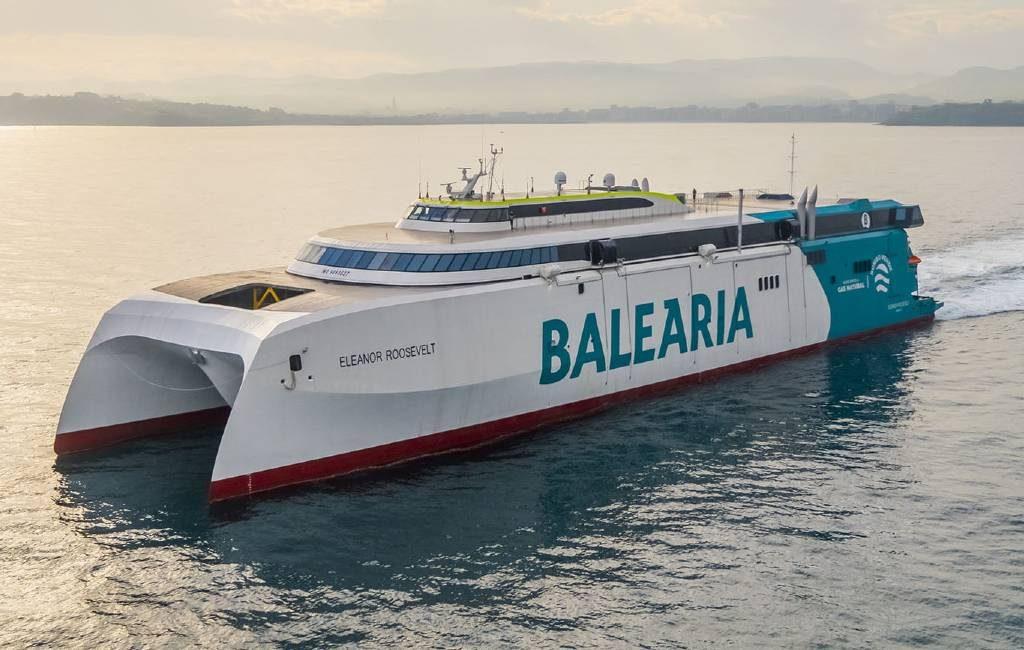 Eerste fast Ferry op aardgas gaat route Dénia-Ibiza-Palma de Mallorca varen