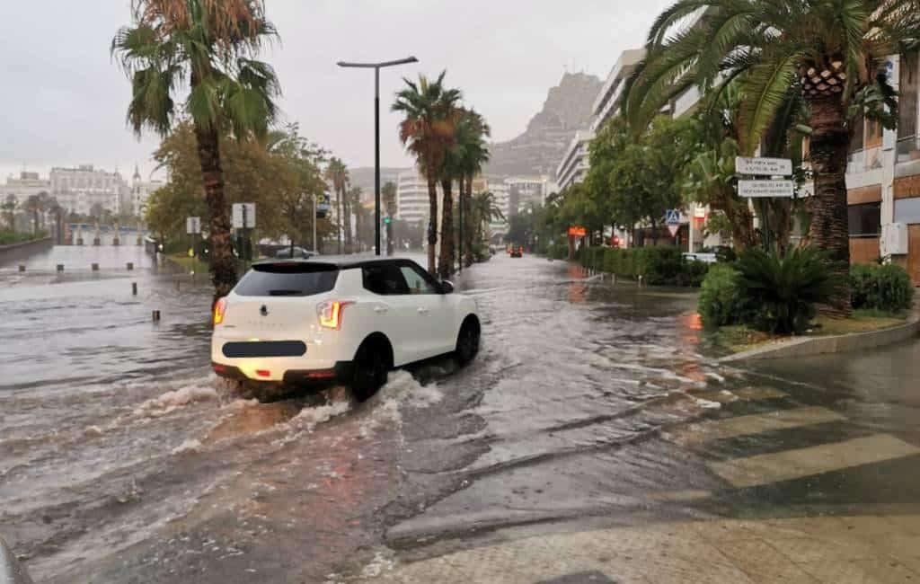 Meer dan het dubbele aan regenval dit jaar in de provincie Alicante