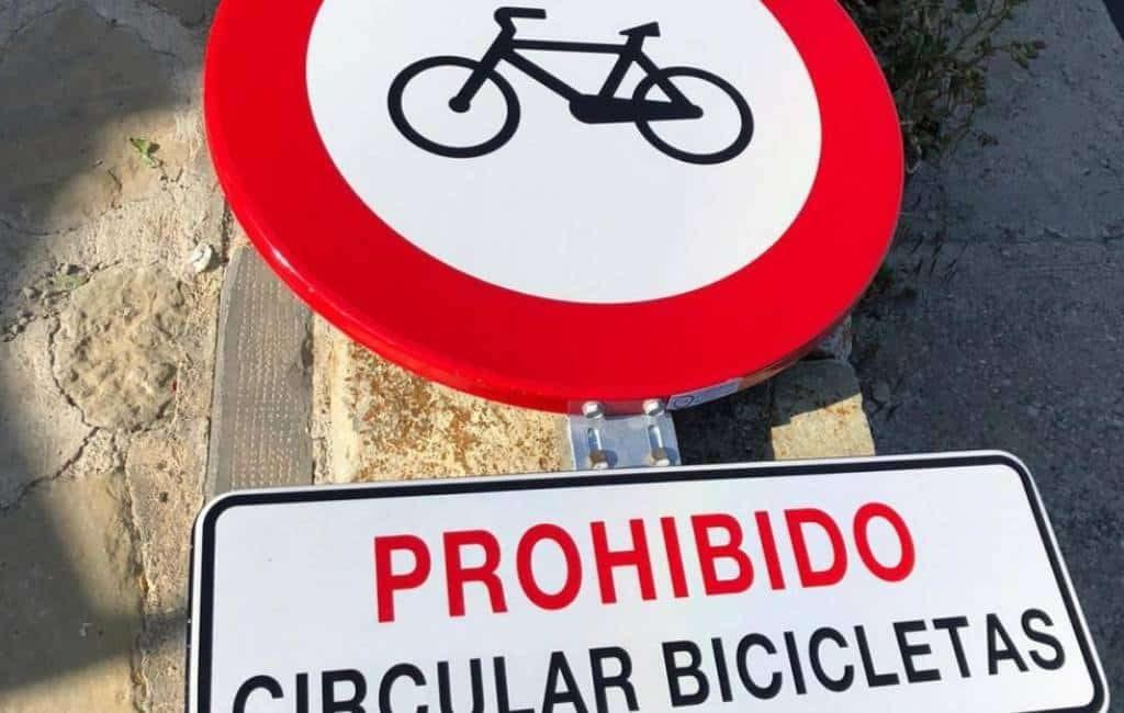 Verboden te fietsen in Cerler-Benasque