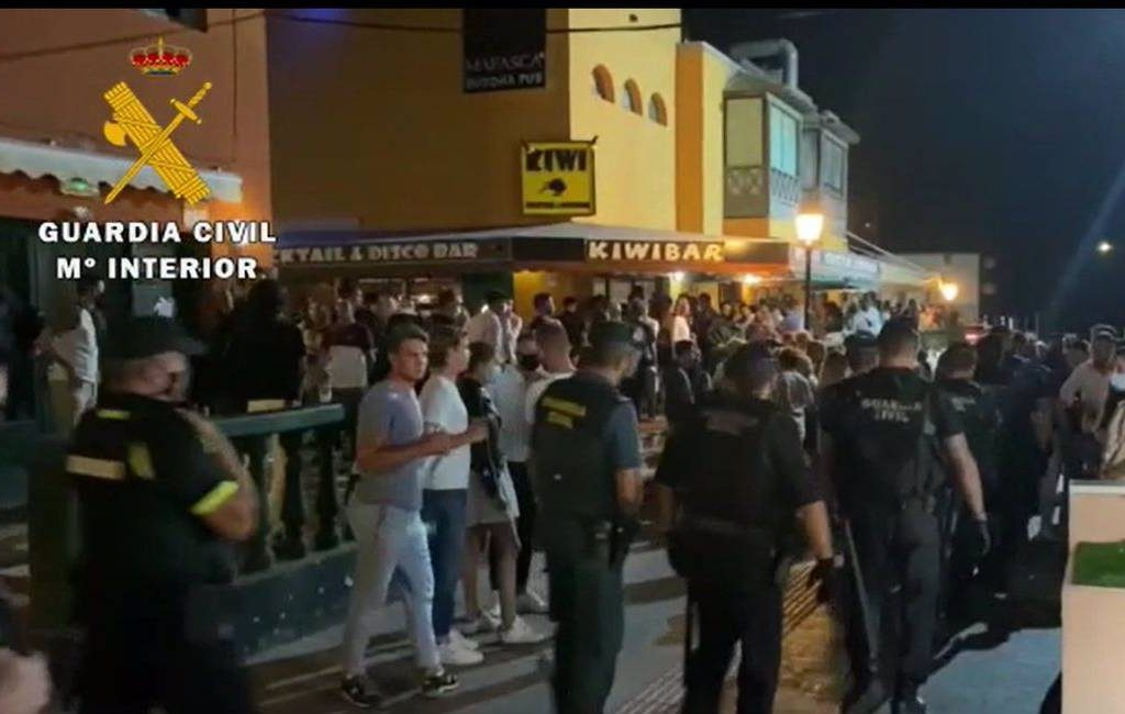 Politie worstelt afgelopen weekend met illegale bijeenkomsten in Asturië