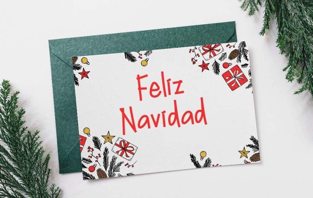 Spanje in top drie wat betreft geprinte kerstkaarten