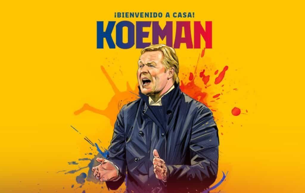 Ronald Koeman nu officieel nieuwe trainer van FC Barcelona