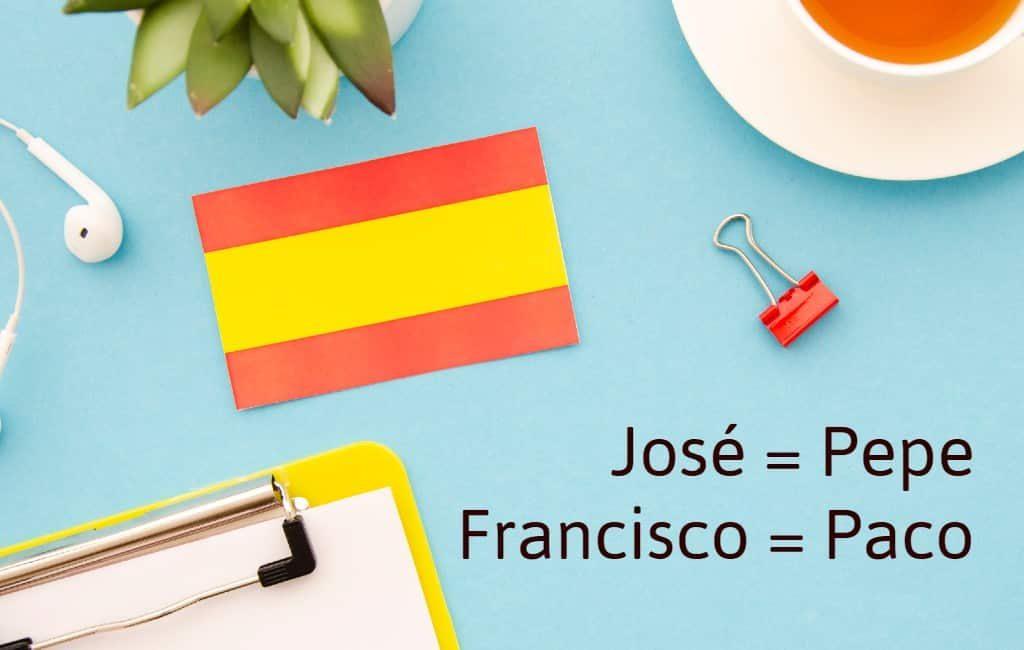 Waarom noemt men iemand in Spanje Pepe als hij José heet?