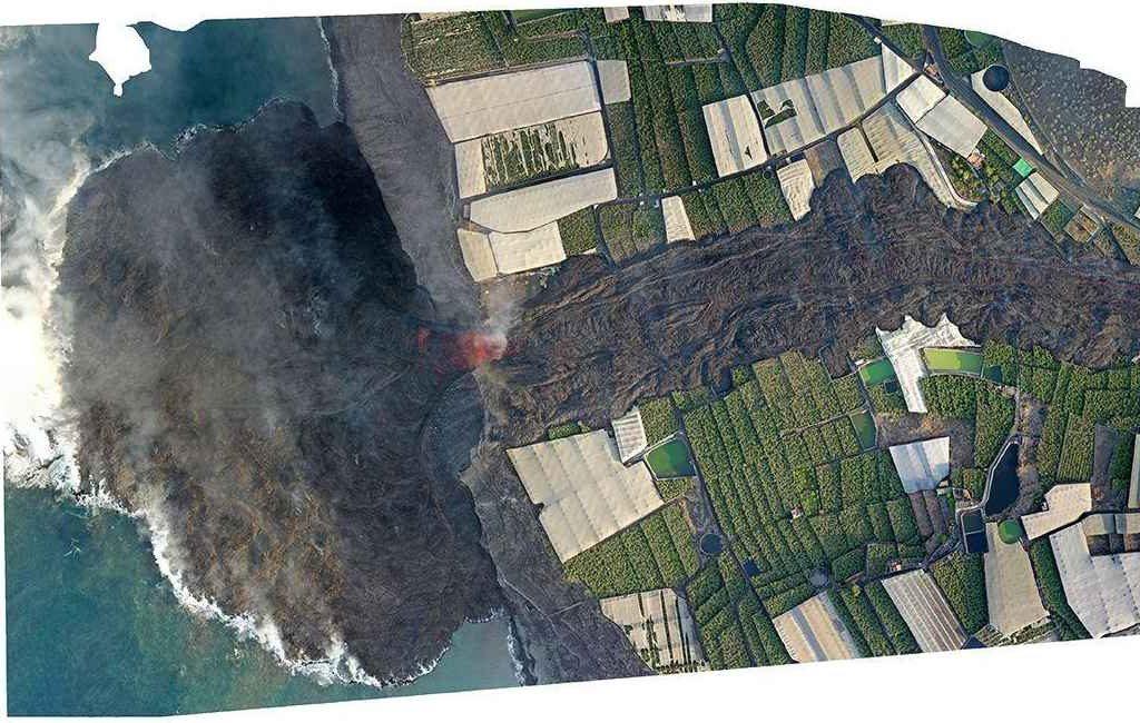 Spanje is vanwege lavastroom in zee tot nu toe 17,2 hectare gegroeid