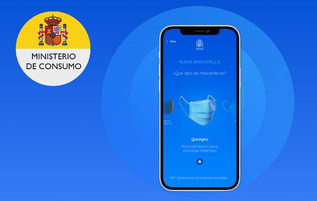 Spaanse smartphone app om de tijd dat je een mondkapje draagt te controleren