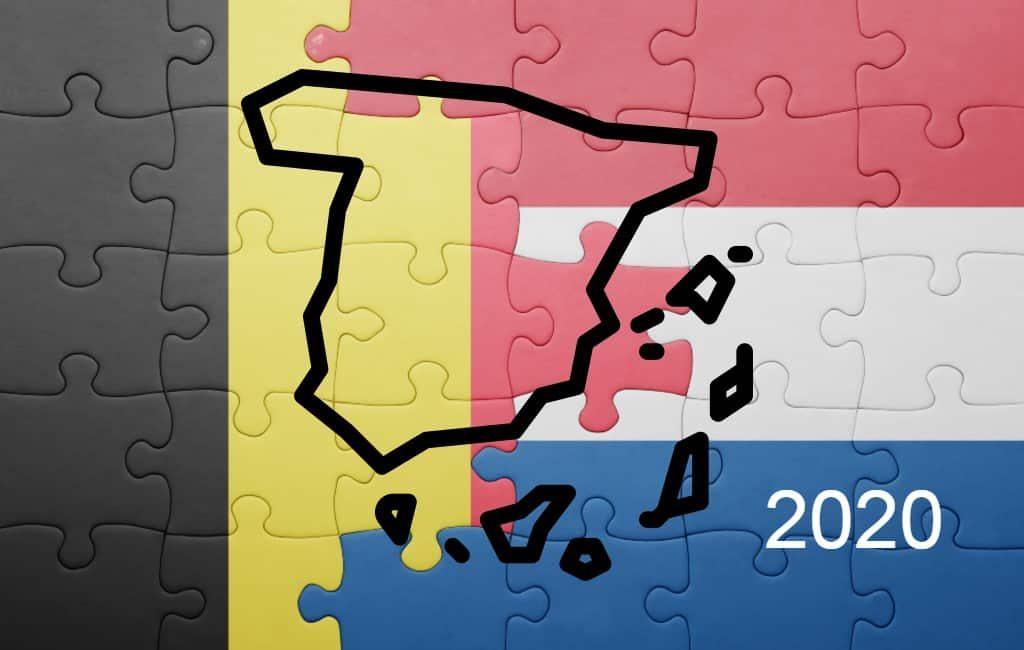 Overzicht van aantal Nederlanders en Belgen dat in Spanje woont (2020)