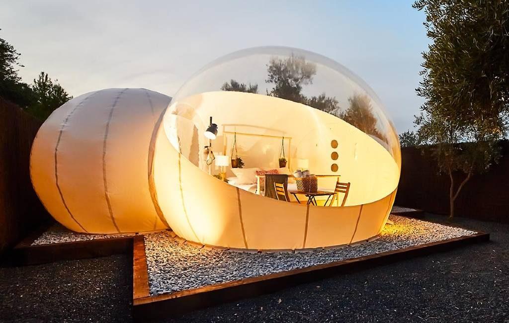 Derde bubbel-hotel Valencia regio geopend in Villena van Nomading Camp