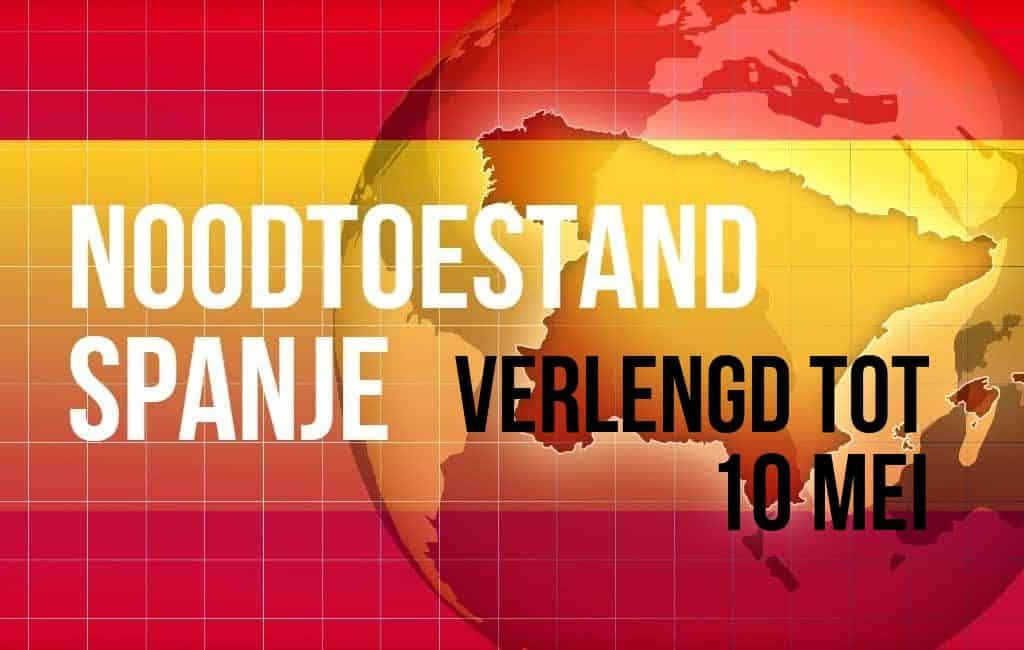 Verlenging noodtoestand tot 10 mei en kinderen vanaf 27 april naar buiten in Spanje