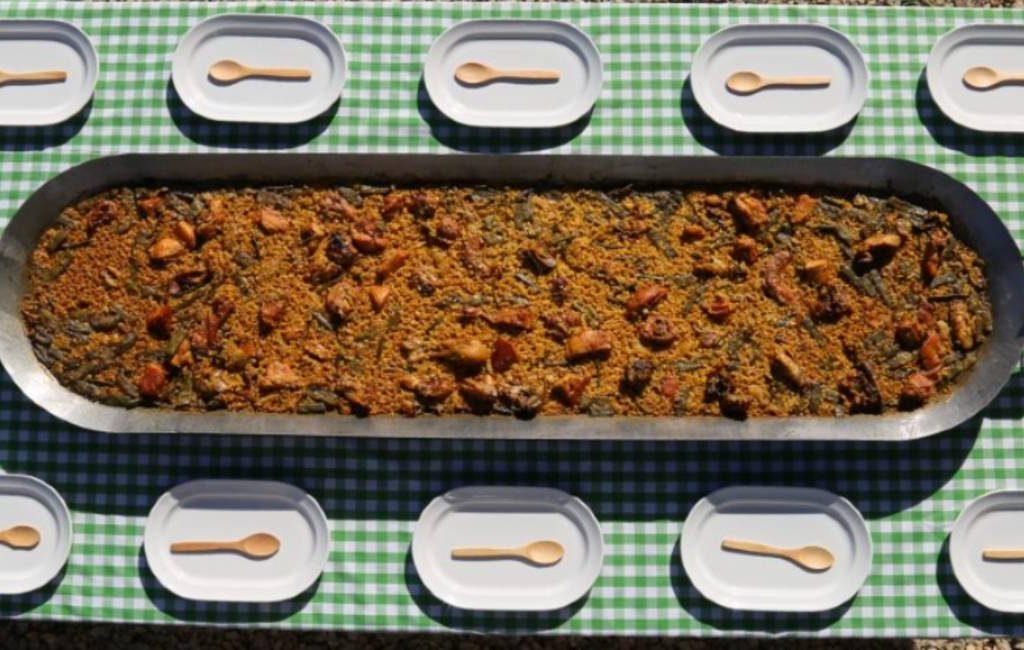 De 1,5 meter afstand Spaanse paella-pan die niet rond maar rechthoekig is