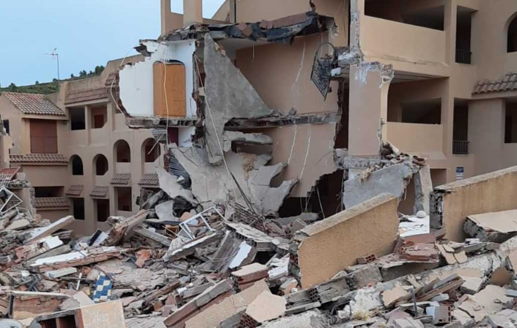Diverse personen onder puin van ingestort appartementencomplex in Peñiscola