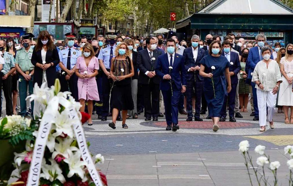 Herdenking terroristische aanslagen Barcelona en Cambrils 4 jaar geleden