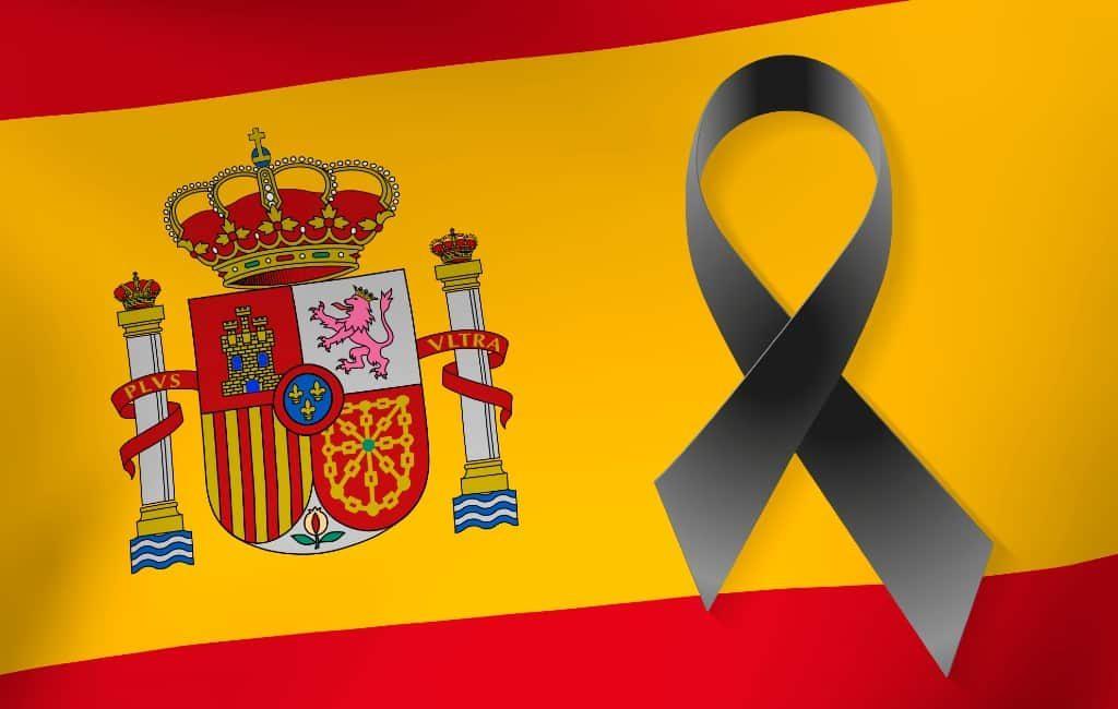 Van 27 mei tot 6 juni nationale rouwperiode van 10 dagen in Spanje