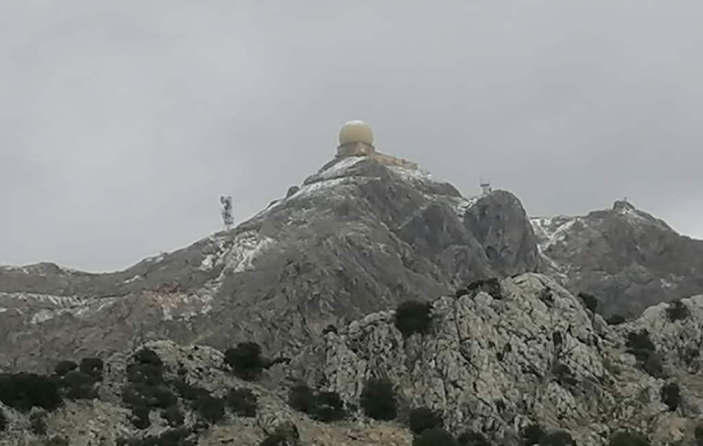 Eerste sneeuw van deze winter op Mallorca gevallen