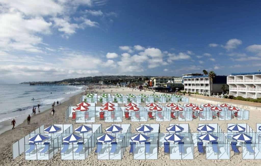 Wordt dit de toekomst op de Spaanse stranden na de corona-crisis