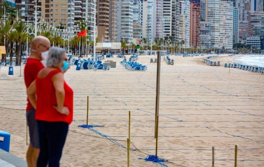 Benidorm gaat in maart/april opnieuw de stranden in percelen verdelen