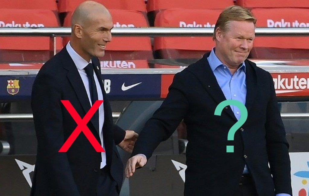 Trainer Zidane verlaat officieel Real Madrid en koeman misschien FC Barcelona?