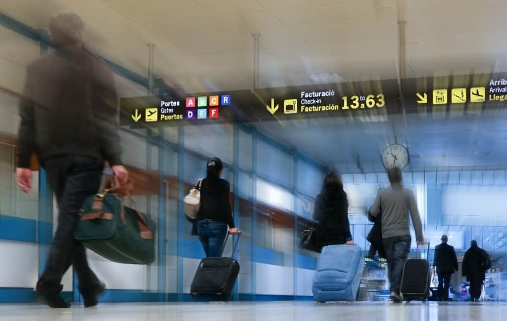 Vliegverkeer in november met 84% gedaald in Spanje