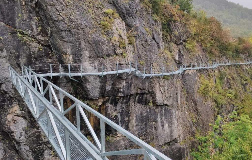 Nieuwe 'Caminito del rey' achtige bergwandeling in de Pyreneeën van Huesca