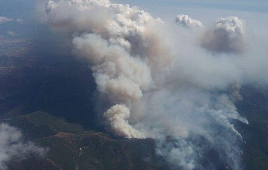 Inwoners twee Andalusische dorpen moesten binnenshuis blijven vanwege dreigende flammagenituswolk