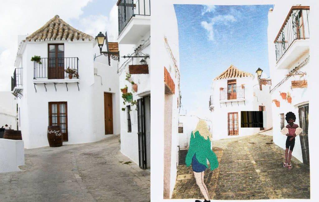 ZARA verkoopt T-shirts waar het dorp Vejer de la Frontera erg blij mee is